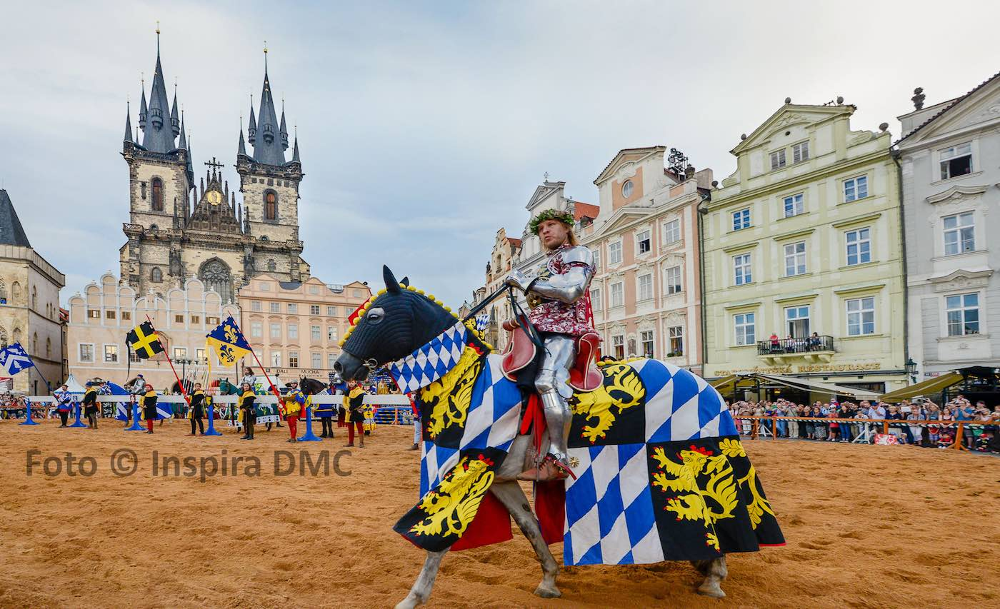 Prague Old Town Square medieval games