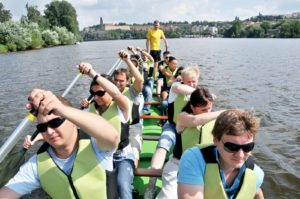 Dragon boating in Prague