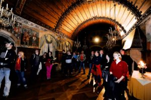 Night visit of Bouzov Castle, Czech Republic