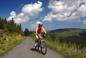 Cycling in the Giant Mountains, Czech Republic