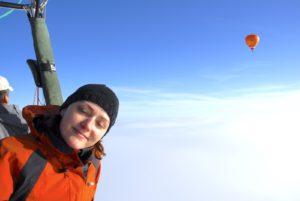 Hot air ballooning - clients enjoying the flight