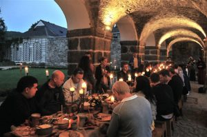 Medieval dinner on Becov Castle, Czech Republic